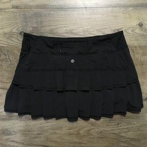 Lululemon Pace Setter Skirt Black NWOT Sz 8 Reg